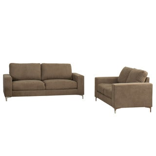CorLiving Cory Chenille Fabric 2-piece Sofa Set
