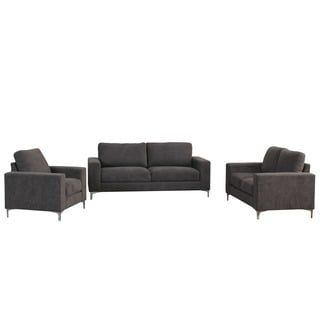 CorLiving Cory Chenille Fabric 3-piece Sofa Set