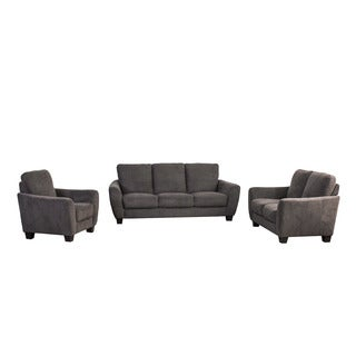 CorLiving Jazz 3pc Chenille Fabric Sofa Set