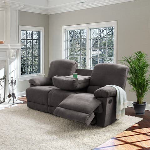 CorLiving Lea Chenille Fabric Reclining Sofa