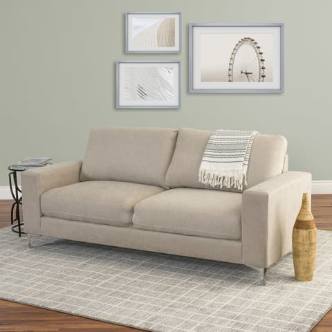 CorLiving Cory Chenille Fabric Sofa - wood/foam