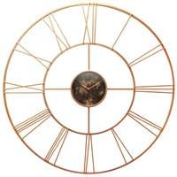 "Infinity Instruments Pearle D'or--a 45"" Rose Gold Wall Clock"