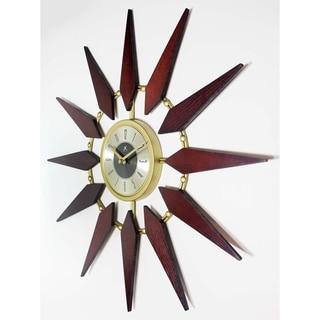"Infinity Instruments Orion--a 30"" MidCentury  Sunburst Wall Clock"