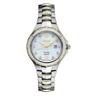 Seiko Ladies Coutura Solar Powered Stainless Steel and Diamond Watch