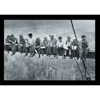 New York - Men on Grinder With Choice of Frame (24x36)