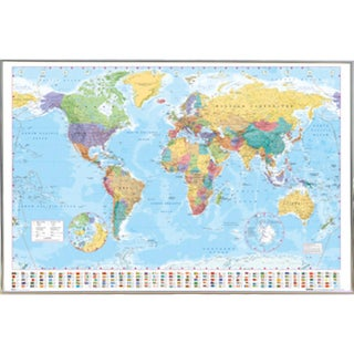 World Map With Choice of Frame (24x36)