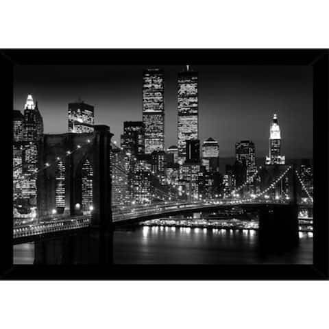 Brooklyn Bridge - Night With Choice of Frame (24x36)
