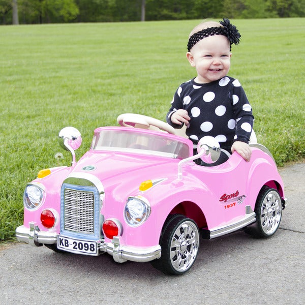 Lil' Rider Pink Classic Car Coupe Battery Powered Ride On Car