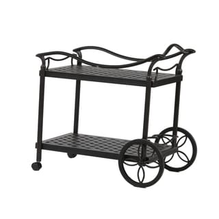 Havenside Home South Ponto Aluminum Tea Cart