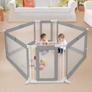 Summer Infant Grey Custom Fit Walk-Thru 6-Panel Playard