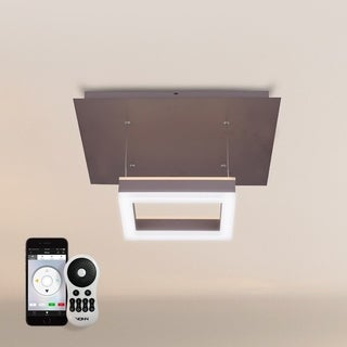 """VONN Lighting Callisto VHP26520ORB 11"""" WiFi-Enabled Tunable White Color-Changing LED Pendant Ceiling Fixture, Vision"""