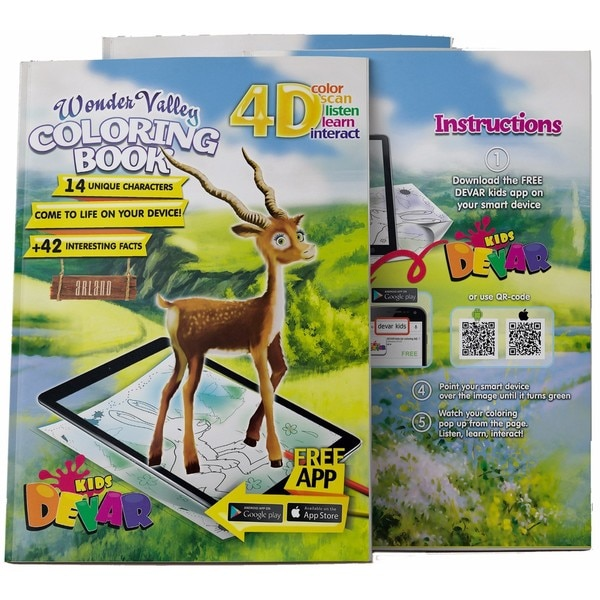 4D Augmented reality Come to Life Coloring books Wonder Valley