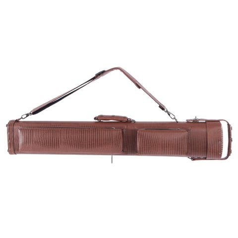 1/2 8-Hole Leather Professional Billiard Pool Cue Case 34 inch