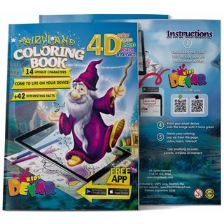 4D Augmented reality Come to Life Coloring books Fairyland