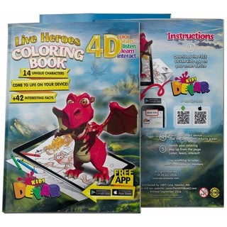 4D Augmented reality Come to Life Coloring books Live Heroes