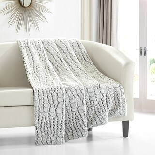 Chic Home Caiman Faux Fur Throw
