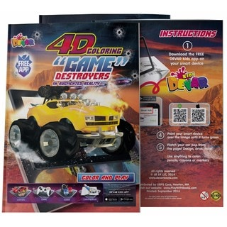 4D Augmented reality Come to Life Coloring books Destroyers