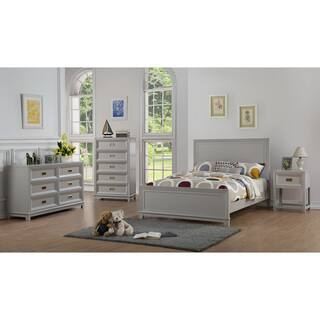 Mark Katzman Grey/White Wood Campaign Bed|https://ak1.ostkcdn.com/images/products/16899912/P23193423.jpg?impolicy=medium
