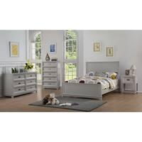 Mark Katzman Grey/White Wood Campaign Bed