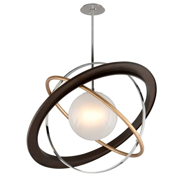 shop troy lighting apogee bronze with gold leaf and polished