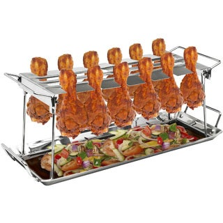 Sorbus® 12 Slot Chicken Leg Grill Stand  Multi-Purpose Non-Stick Poultry Stand