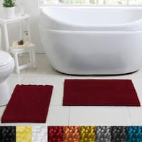Sweet Home Collection 2 Piece Butter Chenille Bath Rug Set
