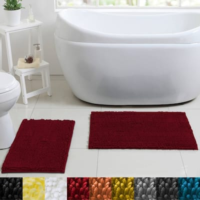 Sweet Home Collection 2-piece Butter Chenille Bath Rug Set