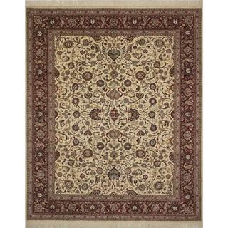 Pak-Persian Wali Semahat Ivory/Red Rug (8'3 x 10'1)