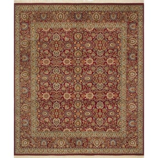 Pak-Persian Wali Naz Red/Red Rug (8'1 x 9'8)