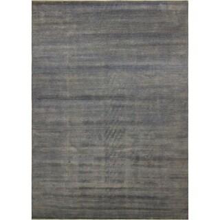 Fine Grass Samime Grey/Purple Rug (10'0 x 13'9)