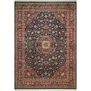 Pak-Persian Wali Hilal Blue/Red Rug (10'1 x 14'6)