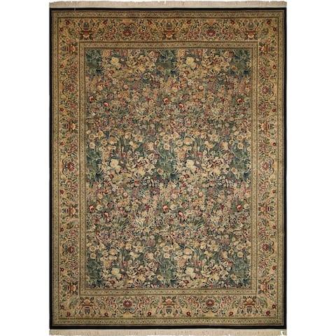 Pak-Persian Wali Ajda Black/Gold Rug (10'0 x 13'8)