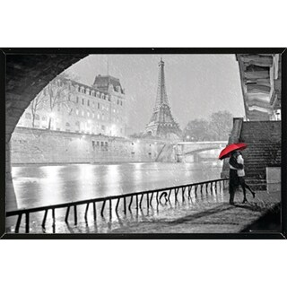 Eiffel Tower Kiss With Choice of Frame (24x36) (More options available)