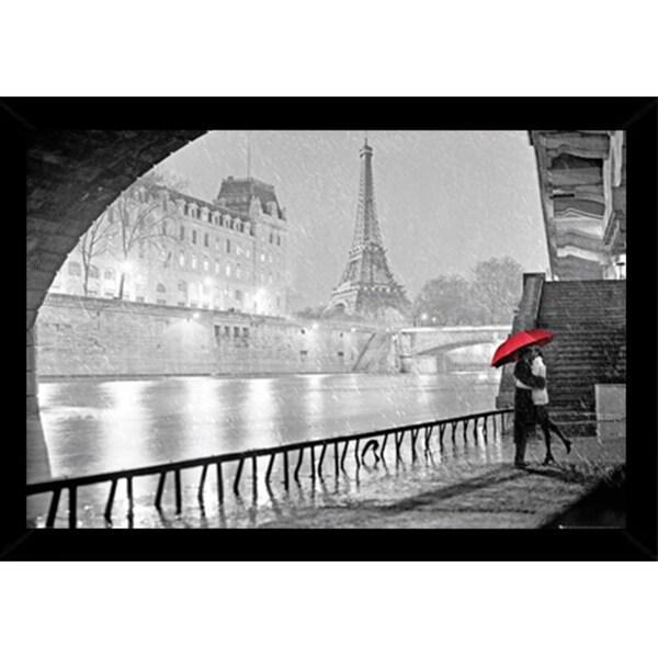Eiffel Tower Kiss With Choice of Frame (24x36)
