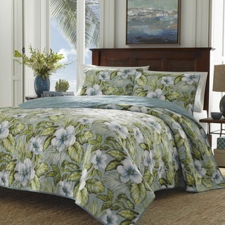 Tommy Bahama Tropical Orchid 3 Piece Quilt Set On Sale