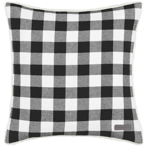 Eddie Bauer Cabin Plaid Black & White Throw Pillow