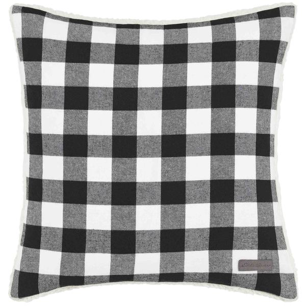 Eddie Bauer Cabin Plaid Black & White Throw Pillow. Opens flyout.