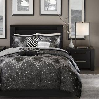 Madison Park Crawford Black Jacquard 7-piece Comforter Set