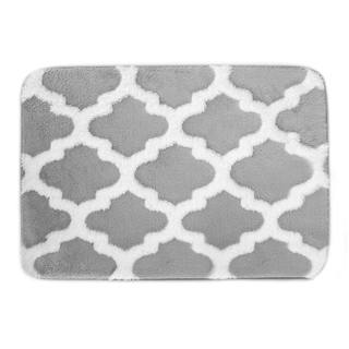 Alisa Collection Plush Memory Foam Anti-Fatigue Bath Mat