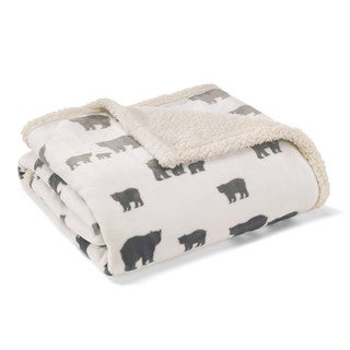Eddie Bauer Bear Village Ultra Plush Throw