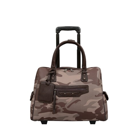 Mellow World Brandy Camouflage 13-inch Laptop Roller Bag
