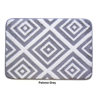 Farrah Collection Plush Memory Foam Anti-Fatigue Bath Mat