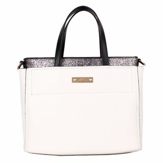 Nikky Multi-Function White Two Bags in One White Tote Bag