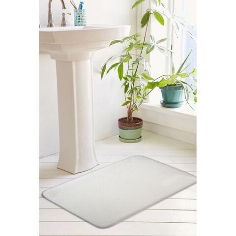 Eleanora Collection Plush Memory Foam Anti-Fatigue Bath Mat