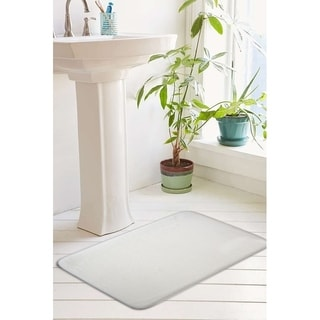 Eleanora Collection Plush Memory Foam Anti-Fatigue Bath Mat