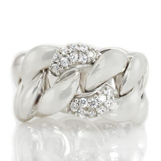 Michael Valitutti Sterling Silver Round Cubic Zirconia Band Ring https://ak1.ostkcdn.com/images/products/16900434/P23193880.jpg?impolicy=medium