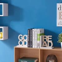 "Danya B. ""Good Read"" Wooden Bookend Set"