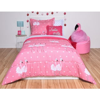 Flamingo Twin 6-piece Bed in a Bag Set