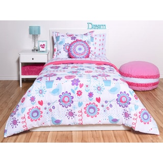 Spring Birds 6-piece Bed in a Bag Set