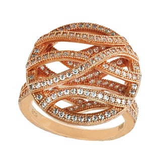 Michael Valitutti Sterling Silver Round Cubic Zirconia Wrap Ring